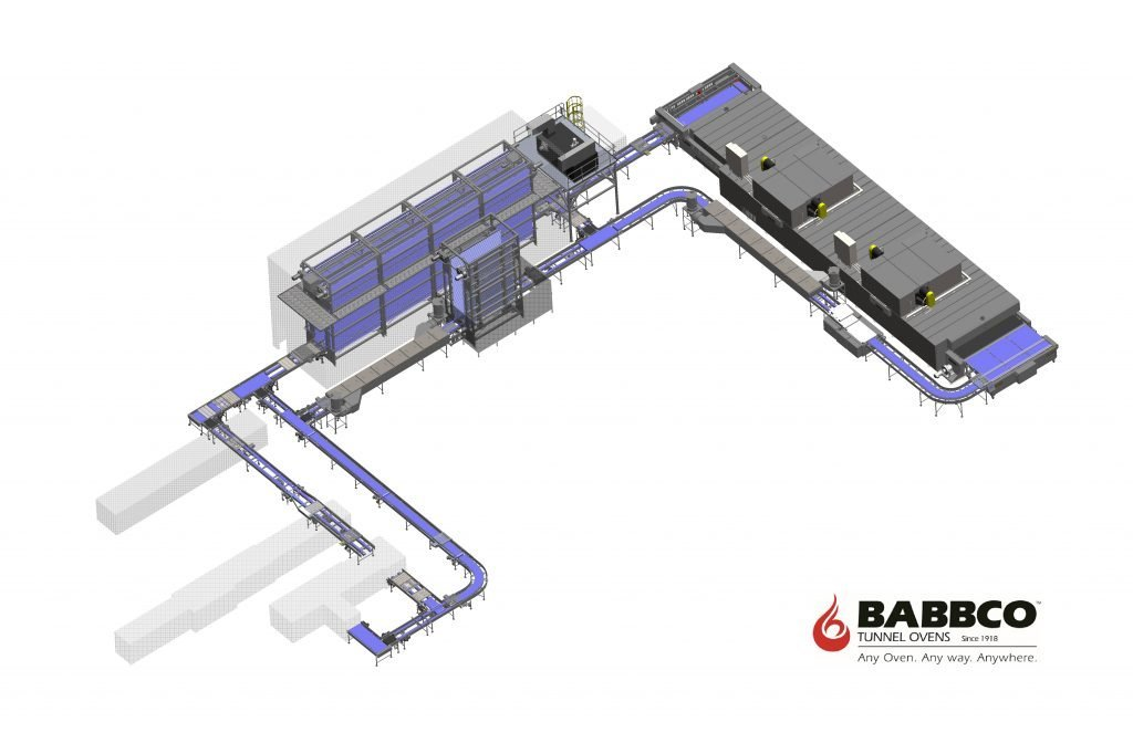 Babbco tunnel oven 3D model